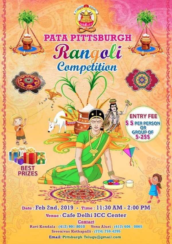 Pittsburgh Rangoli Competition.